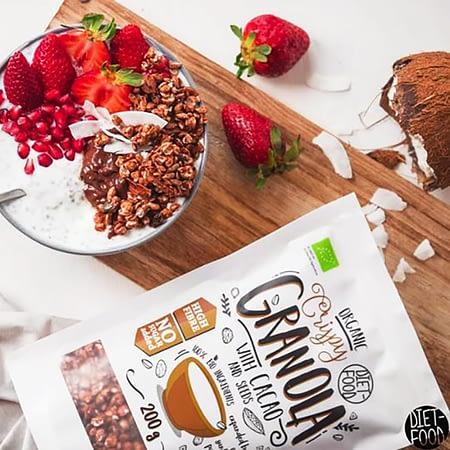 Ekologiška granola su kakava, be cukraus, Diet Food (200g) | ifood.lt