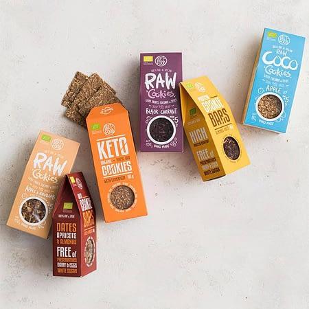 Ekologiški kokosiniai, RAW sausainiai, be pridėtinio cukraus, Diet Food | ifood.lt