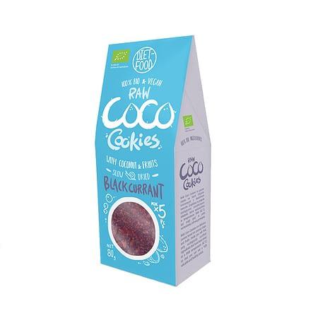 Ekologiški kokosiniai sausainiai su juodaisiais serbentais, be cukraus, Diet Food (80g) | ifood.lt
