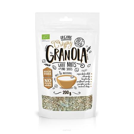 Ekologiška granola su riešutais, be cukraus, Diet Food (200g) | ifood.lt