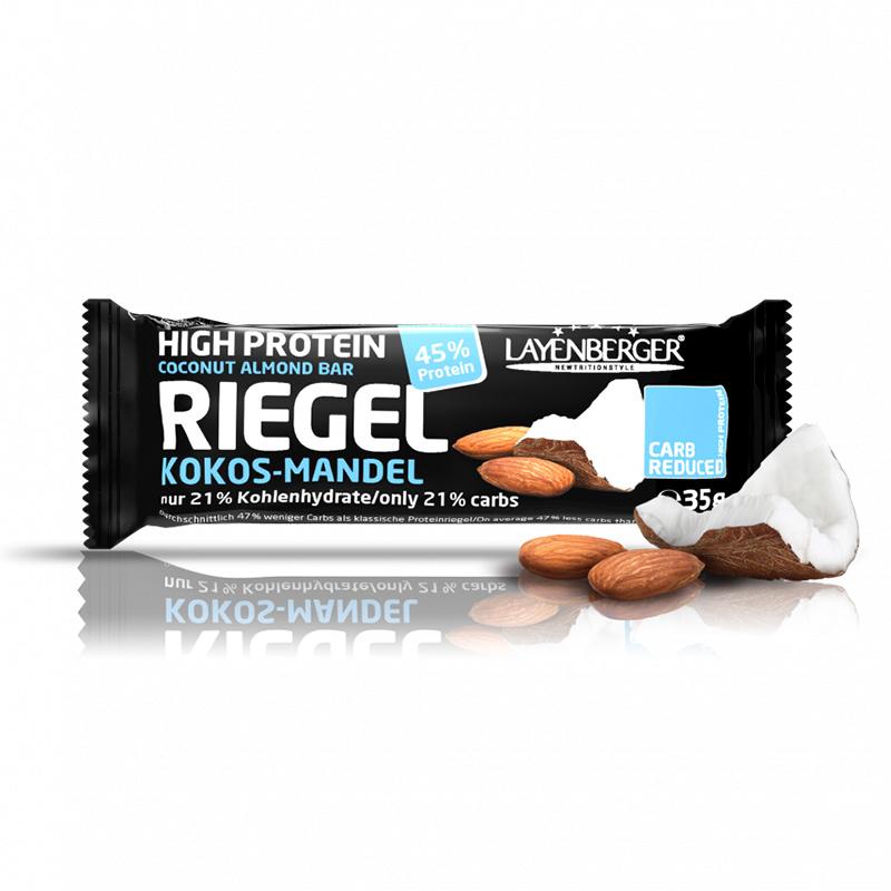 Kokoso ir migdolų skonio baltyminis batonėlis be cukraus, Layenberger (35g) | ifood.lt