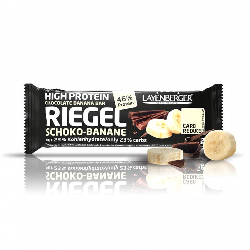 Šokolado ir bananų skonio baltyminis batonėlis be cukraus, Layenberger (35g) | ifood.lt