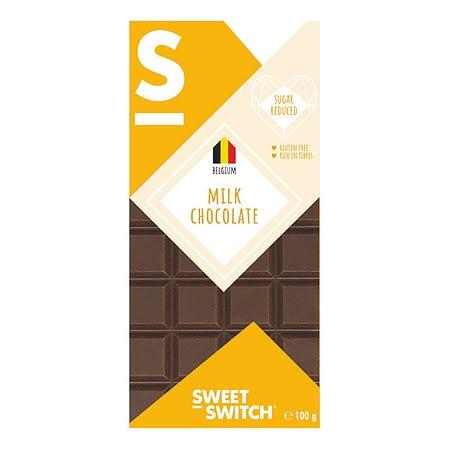 Belgiškas pieniškas šokoladas, be cukraus ir glitimo, Sweet Switch (100g) | ifood.lt