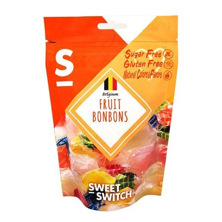 Vaisių skonio saldainiai karamelės, be cukraus ir glitimo, Sweet Switch (100g) | ifood.lt