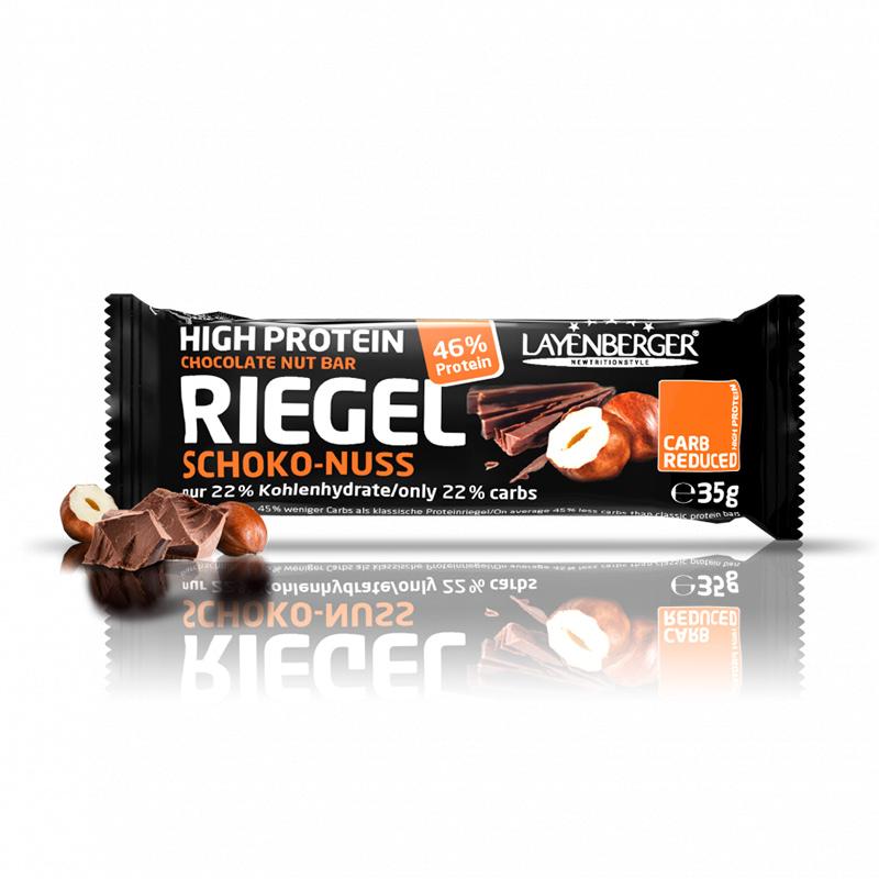 Šokolado ir lazdyno riešutų skonio baltyminis batonėlis be cukraus, Layenberger (35g) | ifood.lt