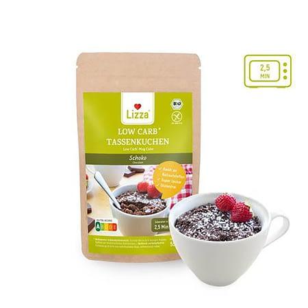 Ekologiškas šokoladinis Keto pyragėlis puodelyje, kepimo mišinys, be glitimo, Lizza (55g) | ifood.lt