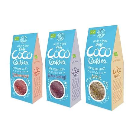 Ekologiškų kokosinių sausainių su vaisiais ir uogomis rinkinys, be cukraus, Coco Cookies (3vnt.) | ifood.lt