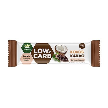 Kokosinis Low Carb batonėlis su kakava, be cukraus ir glitimo, Topnatur (40g) | ifood.lt