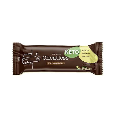 Keto kakavinis batonėlis su MCT aliejumi, be cukraus ir glitimo, Cheatless (50g) | ifood.lt