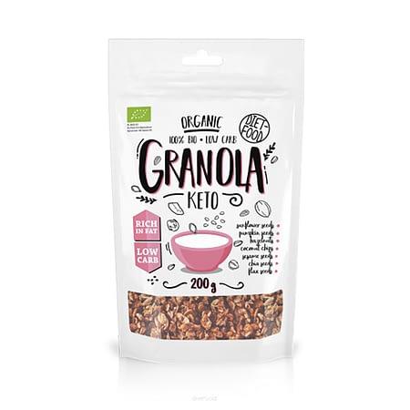 Ekologiška Keto granola, be cukraus, Diet Food (200g) | ifood.lt
