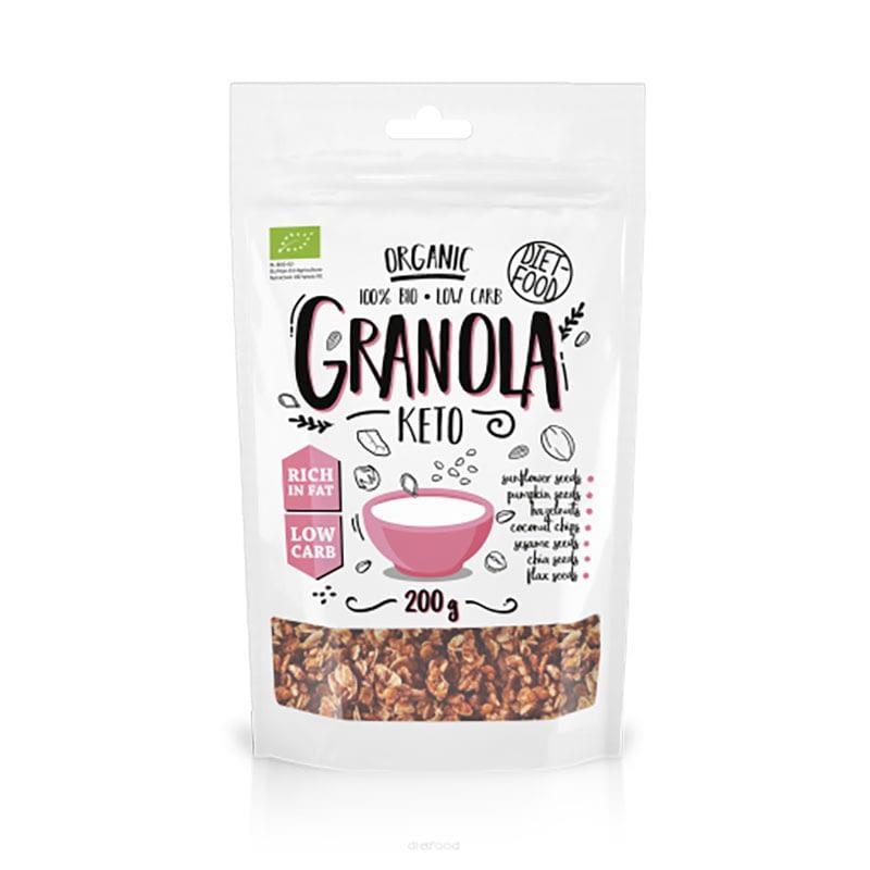 Ekologiška Keto granola, be cukraus, Diet Food (200g)   ifood.lt