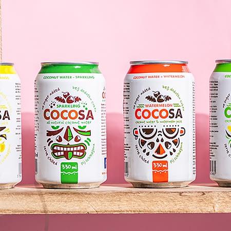 Kokoso vanduo su arbūzų sultimis, be cukraus, Cocosa (330ml) | ifood.lt