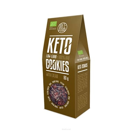 Ekologiški Keto sausainiai su kakava, be cukraus, Diet Food (80g) | ifood.lt