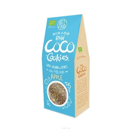 Ekologiški kokosiniai sausainiai su obuoliais, be cukraus, Diet Food (80g) | ifood.lt
