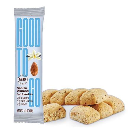 Vanilės ir migdolų skonio Keto batonėlis, be cukraus ir glitimo, Good To Go (40 g) | ifood.lt