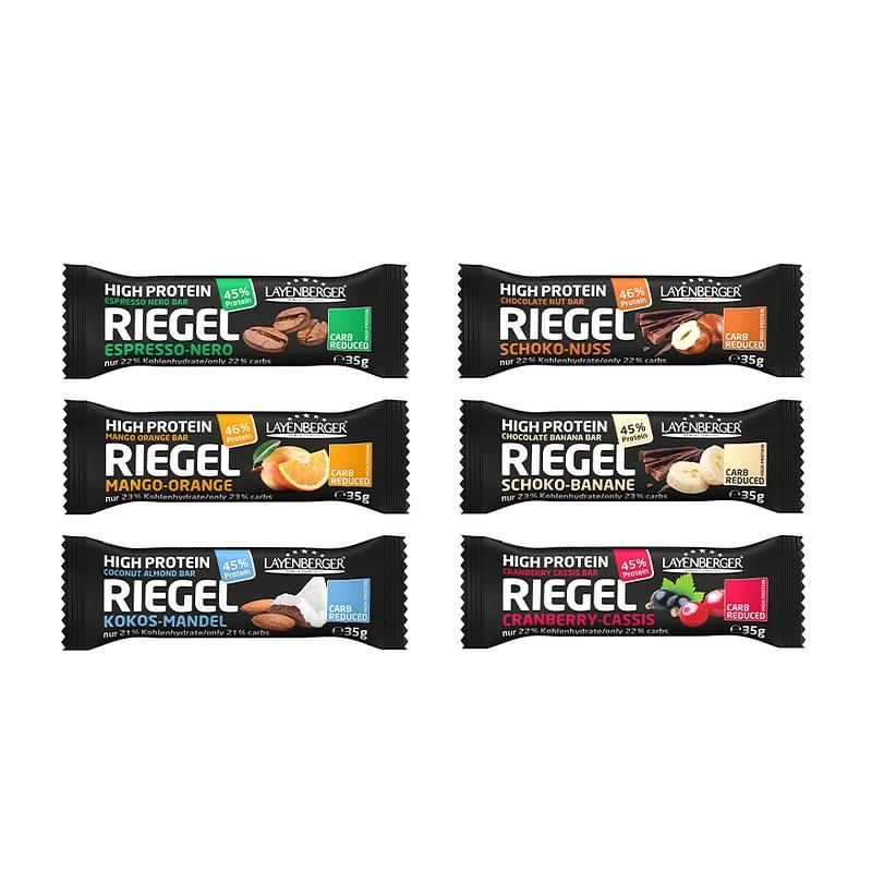 Baltyminių batonėlių be cukraus rinkinys, Layenberger Riegel Mix (6vnt.) | ifood.lt