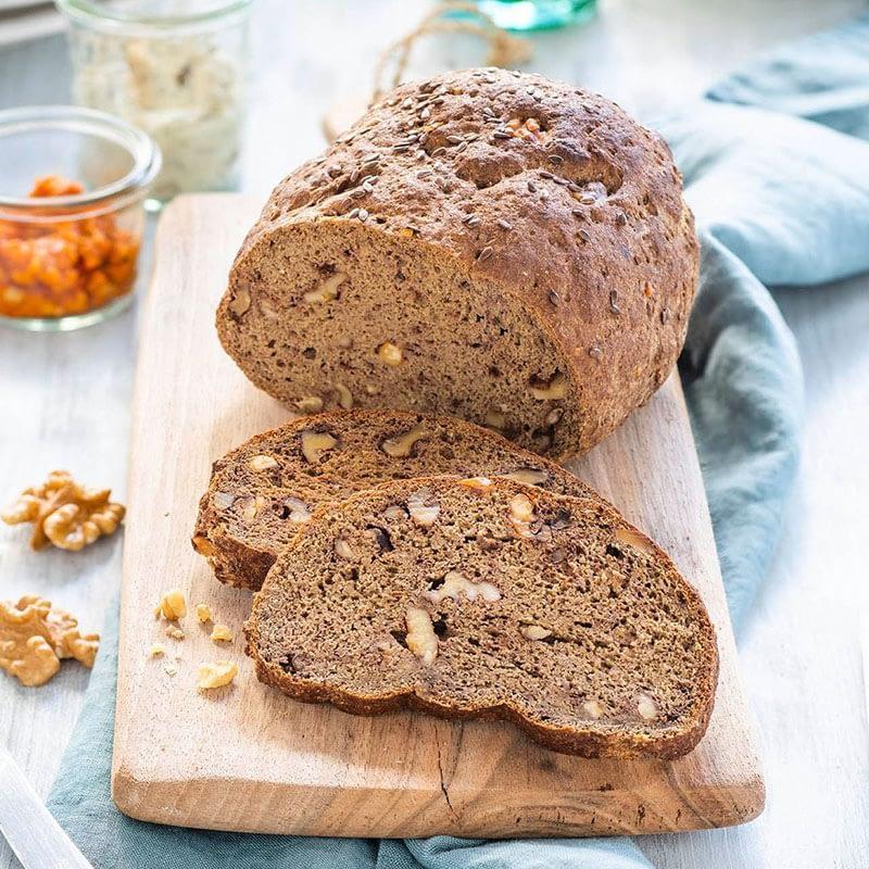 Low Carb duonos su graikiškais riešutais kepimo mišinys, be glitimo, ekologiškas, Lizza (250g)   ifood.lt