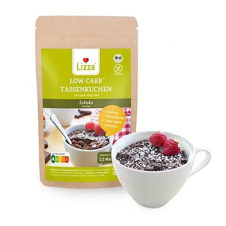 Low Carb šokoladinio pyragėlio kepimo mišinys, be glitimo, ekologiškas, Lizza (55g) | ifood.lt
