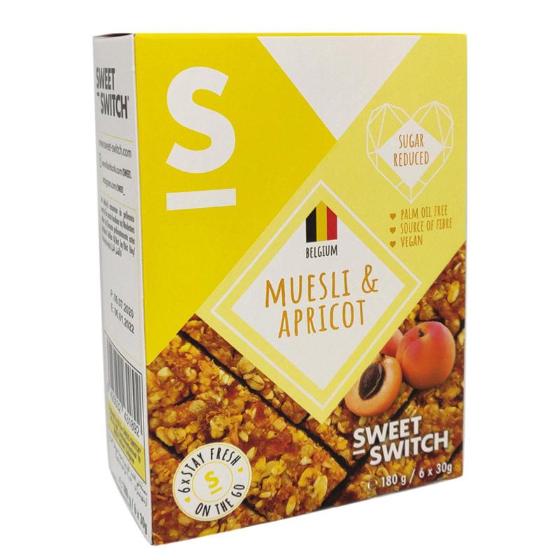 Javainių batonėliai su abrikosais, be cukraus, Sweet Switch (6vnt. x 30g)   ifood.lt