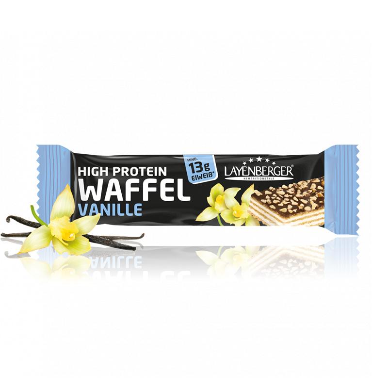Vanilės skonio vaflinis baltyminis batonėlis be cukraus, Layenberger (40g) | ifood.lt