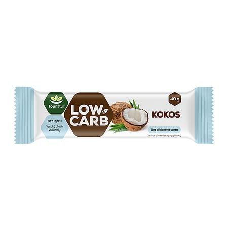 Kokosinis Low Carb batonėlis, be cukraus ir glitimo, Topnatur (40g) | ifood.lt