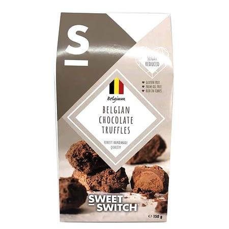 Belgiško šokolado triufeliai, be cukraus ir glitimo, Sweet Switch (150g) | ifood.lt