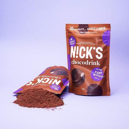 Šokoladinis gėrimas, kakava, be cukraus, Nicks (250g) | ifood.lt
