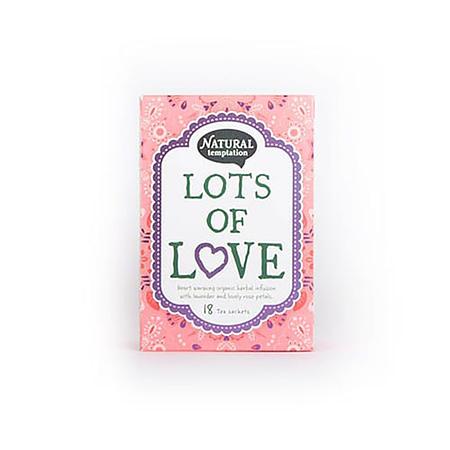 Žolelių arbata su levandomis ir rožių žiedlapiais 'Lots of love', ekologiška, Natural Temptation (18 pak.) | ifood.lt