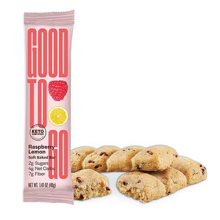 Aviečių ir citrinų skonio Keto batonėlis, be cukraus ir glitimo, Good To Go (40 g) | ifood.lt